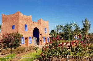 Les deux teintes du Maroc, le rouge orangé et le bleu Majorelle