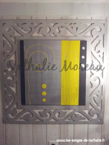Tableau avec cadre en alu brossé
